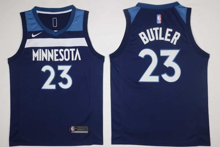 Men's Minnesota Timberwolves #23 Jimmy Butler New Navy Blue 2017-2018 Nike Swingman Stitched NBA Jersey