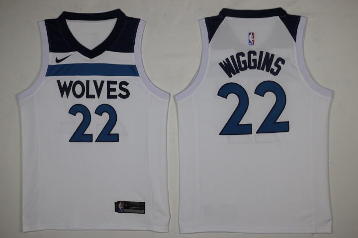 Men's Minnesota Timberwolves #22 Andrew Wiggins New White 2017-2018 Nike Swingman Stitched NBA Jersey