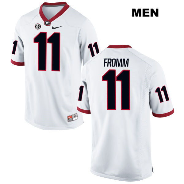 Men's Georgia Bulldogs #11 Jake Fromm White Stitched NCAA Nike College Football Jersey