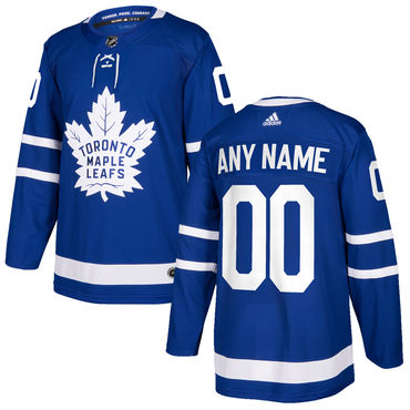 Custom Men's Toronto Maple Leafs Blue Home Authentic Stitched 2017-2018 Adidas NHL Jersey