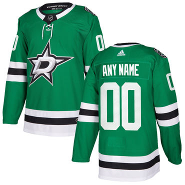 Custom Men's Adidas Dallas Stars Green Home Authentic Stitched NHL Jersey