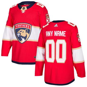 Custom Men's Florida Panthers Red 2017-2018 Home Adidas Hockey Jersey