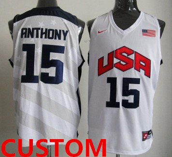 Custom 2012 Olympics Team USA Revolution 30 Swingman White Jersey_副本
