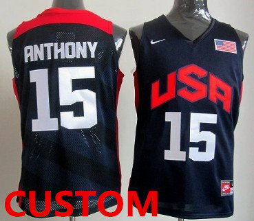 Custom 2012 Olympics Team USA Revolution 30 Swingman Blue Jersey_副本