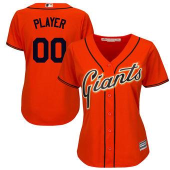 Women's San Francisco Giants Majestic Orange Cool Base Alternate Jersey