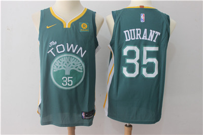 Men's Golden State Warriors #35 Kevin Durant Dark Green 2017-2018 Nike Swingman Rakuten Stitched NBA Jersey