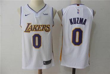 Men's Los Angeles Lakers #0 Kyle Kuzma New White 2017-2018 Nike Swingman Stitched NBA Jersey