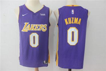 Men's Los Angeles Lakers #0 Kyle Kuzma New Purple 2017-2018 Nike Swingman Wish Stitched NBA Jersey
