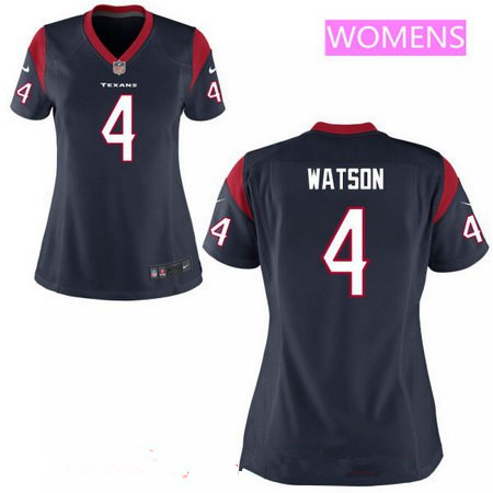 Women's 2017 NFL Draft Houston Texans #4 Deshaun Watson Navy Blue Alternate Stitched NFL Nike Game Jersey