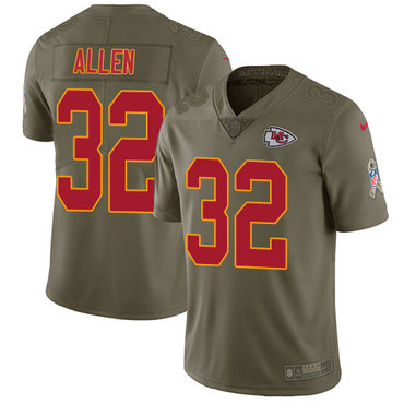 Nike Kansas City Chiefs #32 Marcus Allen Olive Men's Stitched NFL Limited 2017 Salute to Service Jersey