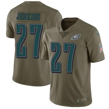 Nike Philadelphia Eagles #27 Malcolm Jenkins Olive Men's Stitched NFL Limited 2017 Salute To Service Jersey