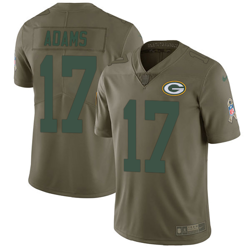 Nike Green Bay Packers #17 Davante Adams Olive Men's Stitched NFL Limited 2017 Salute To Service Jersey