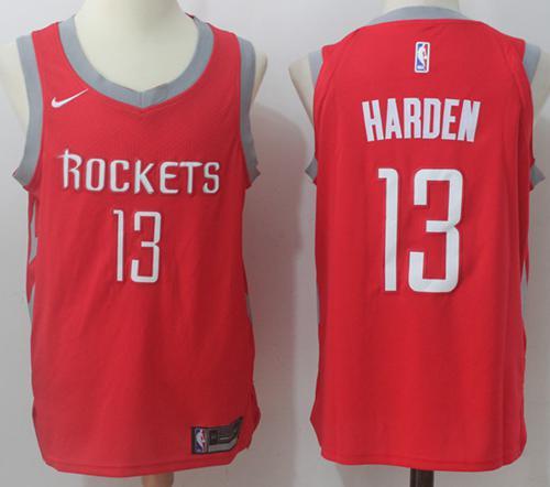 Nike Houston Rockets #13 James Harden Red Stitched NBA Jersey