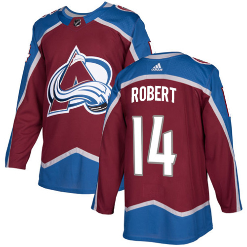 Adidas Colorado Avalanche #14 Rene Robert Burgundy Home Authentic Stitched NHL Jersey