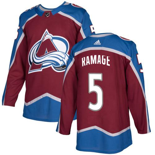 Adidas Colorado Avalanche #5 Rob Ramage Burgundy Home Authentic Stitched NHL Jersey