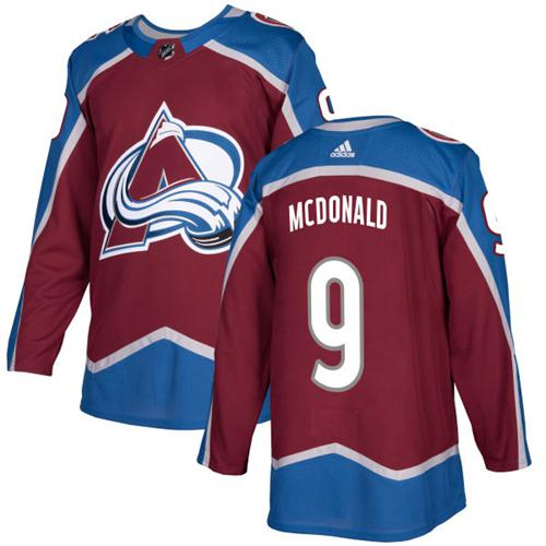 Adidas Colorado Avalanche #9 Lanny McDonald Burgundy Home Authentic Stitched NHL Jersey