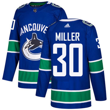 Adidas Vancouver Canucks #30 Ryan Miller Blue Home Authentic Stitched NHL Jersey