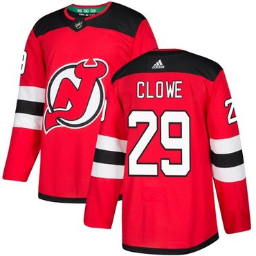 Adidas New Jersey Devils #29 Ryane Clowe Red Home Authentic Stitched NHL Jersey