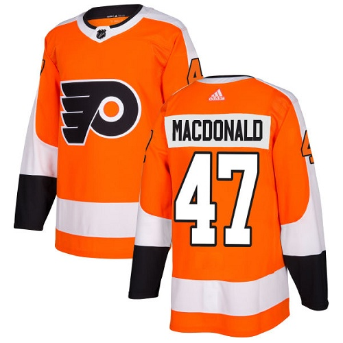 Adidas Philadelphia Flyers #47 Andrew MacDonald Orange Home Authentic Stitched NHL Jersey