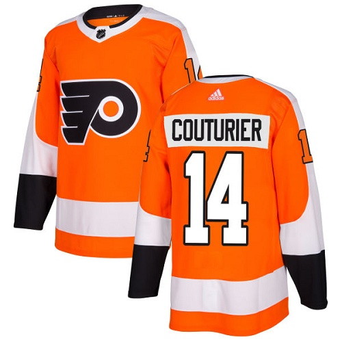 Adidas Philadelphia Flyers #14 Sean Couturier Orange Home Authentic Stitched NHL Jersey