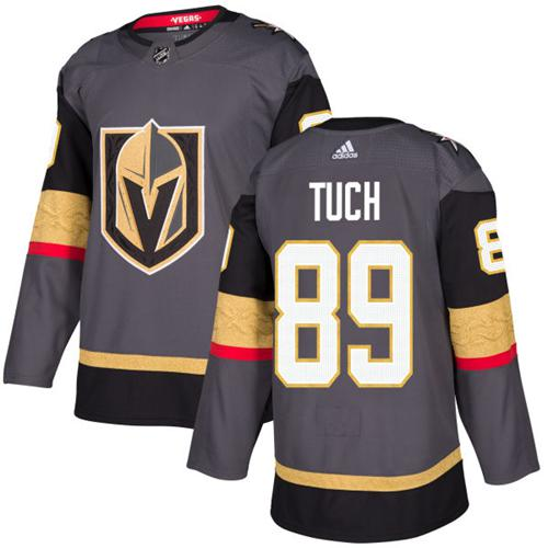 Adidas Vegas Golden Knights #89 Alex Tuch Grey Home Authentic Stitched NHL Jersey
