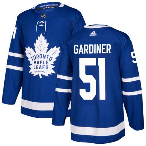 Adidas Toronto Maple Leafs #51 Jake Gardiner Blue Home Authentic Stitched NHL Jersey