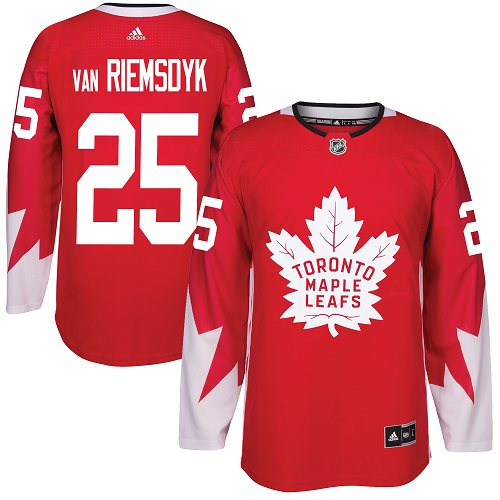 Adidas Toronto Maple Leafs #25 James Van Riemsdyk Red Team Canada Authentic Stitched NHL Jersey