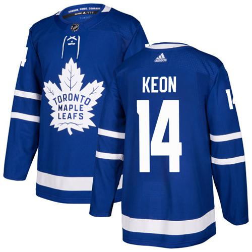 Adidas Toronto Maple Leafs #14 Dave Keon Blue Home Authentic Stitched NHL Jersey
