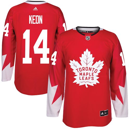 Adidas Toronto Maple Leafs #14 Dave Keon Red Team Canada Authentic Stitched NHL Jersey