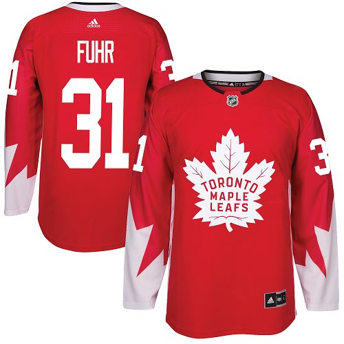 Adidas Toronto Maple Leafs #31 Grant Fuhr Red Team Canada Authentic Stitched NHL Jersey