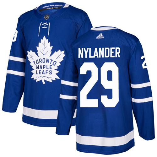 Adidas Toronto Maple Leafs #29 William Nylander Blue Home Authentic Stitched NHL Jersey