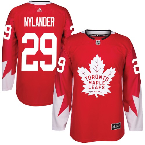 Adidas Toronto Maple Leafs #29 William Nylander Red Team Canada Authentic Stitched NHL Jersey