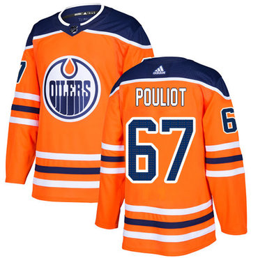 Adidas Edmonton Oilers #67 Benoit Pouliot Orange Home Authentic Stitched NHL Jersey