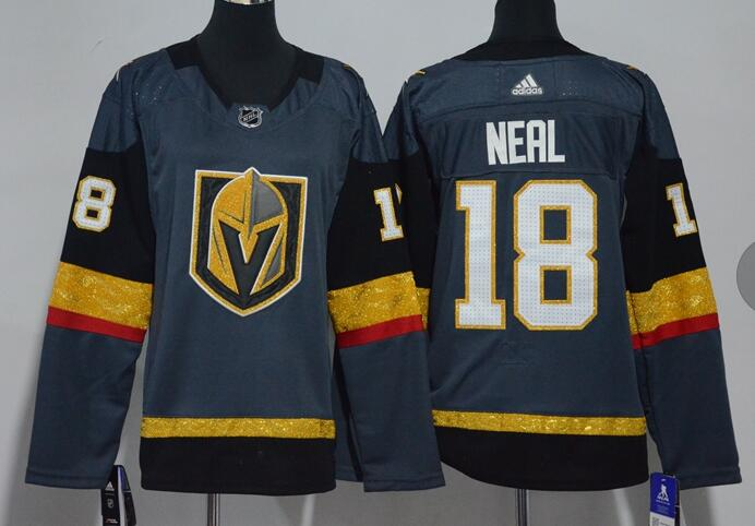 Adidas Golden Knights #18 James Neal Grey Home Authentic Stitched NHL Jersey