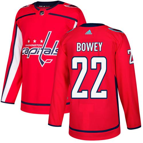 Adidas Capitals #22 Madison Bowey Red Home Authentic Stitched NHL Jersey