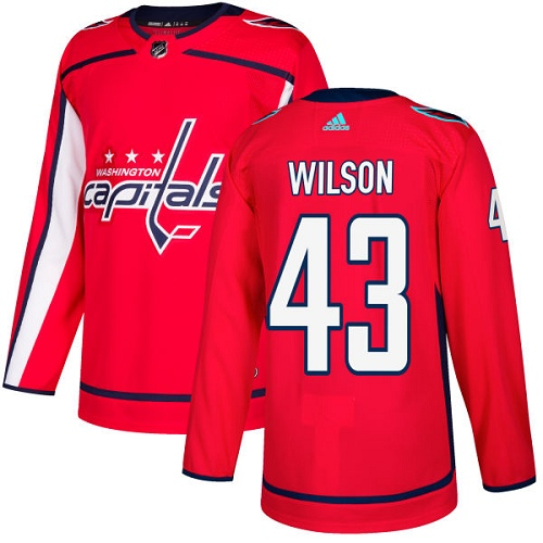 Adidas Capitals #43 Tom Wilson Red Home Authentic Stitched NHL Jersey