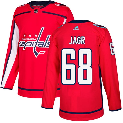 Adidas Capitals #68 Jaromir Jagr Red Home Authentic Stitched NHL Jersey