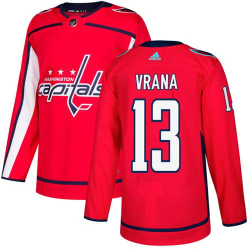 Adidas Capitals #13 Jakub Vrana Red Home Authentic Stitched NHL Jersey