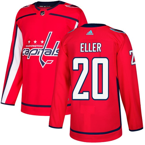 Adidas Capitals #20 Lars Eller Red Home Authentic Stitched NHL Jersey