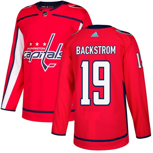 Adidas Capitals #19 Nicklas Backstrom Red Home Authentic Stitched NHL Jersey
