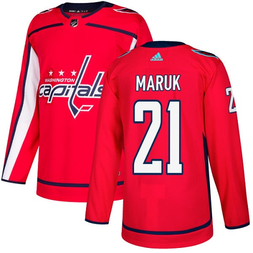 Adidas Capitals #21 Dennis Maruk Red Home Authentic Stitched NHL Jersey