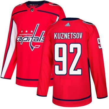 Adidas Capitals #92 Evgeny Kuznetsov Red Home Authentic Stitched NHL Jersey