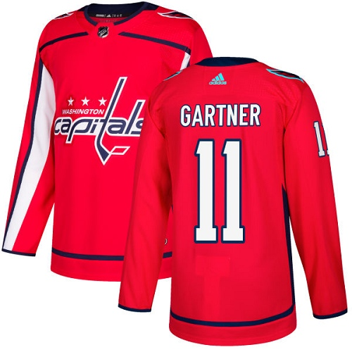 Adidas Capitals #11 Mike Gartner Red Home Authentic Stitched NHL Jersey