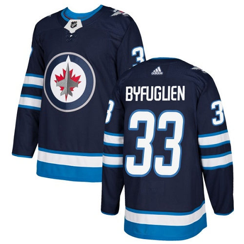 Adidas Jets #33 Dustin Byfuglien Navy Blue Home Authentic Stitched NHL Jersey