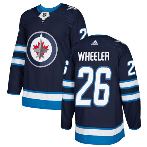 Adidas Jets #26 Blake Wheeler Navy Blue Home Authentic Stitched NHL Jersey