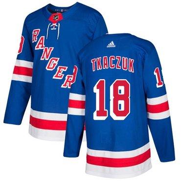 Adidas Rangers #18 Walt Tkaczuk Royal Blue Home Authentic Stitched NHL Jersey