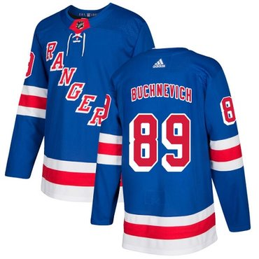 Adidas Rangers #89 Pavel Buchnevich Royal Blue Home Authentic Stitched NHL Jersey