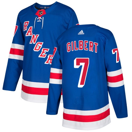 Adidas Rangers #7 Rod Gilbert Royal Blue Home Authentic Stitched NHL Jersey