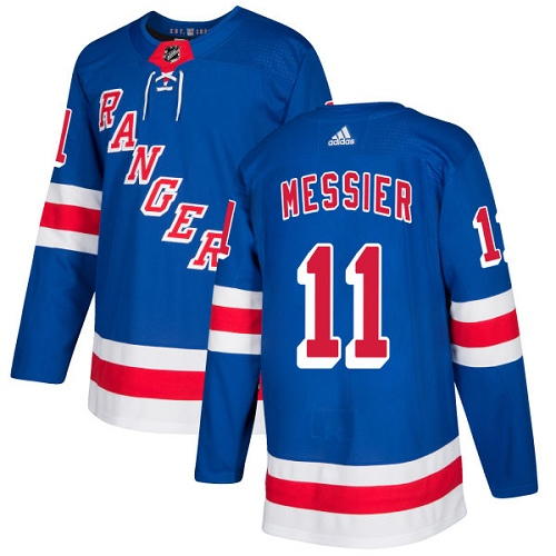 Adidas Rangers #11 Mark Messier Royal Blue Home Authentic Stitched NHL Jersey
