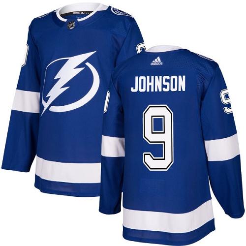Adidas Lightning #9 Tyler Johnson Blue Home Authentic Stitched NHL Jersey